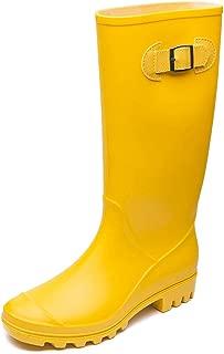 DKSUKO Rain Boots for Women Waterproof Elastic Wellington Boots