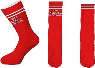 Men's Knit Crew Socks, Maga America Great Again