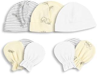 RG-FA, RG-FA 1 juego de guantes unisex para bebés y niñas, gorro de algodón suave, antiarañazos, accesorio para fotos