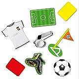 24 Stück XXL Konfetti Fussball Tischdekoration Fussballparty