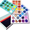 Beauty Glazed Meet You Match 60 Colors Shimmer Matte and Glitter Eye Shadow Tray Soft Creamy Texture Blendable Long Lasting Color Board Travel Size Waterproof Eyeshadow Makeup Palette