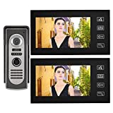 FILFEEL Video Türsprechanlage, Home Smart Video Türklingel Kit 7-Zoll LCD Kabel mit visueller...