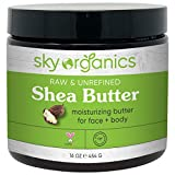 Shea Butter by Sky Organics (16 oz) 100% Pure Unrefined Raw African Shea Butter for Face and Body Moisturizing Natural Body Butter for Dry Skin