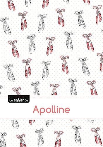 Le cahier d'Apolline - Blanc, 96p, A5 - Ballerine