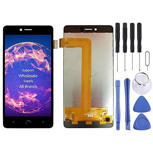 LLLi-ES Accesorios para teléfonos móviles Pantalla LCD y ensamblaje Completo del digitalizador for BQ Aquaris U/U Lite/U Plus Sustitución de Hardware del teléfono móvil (Color : Black)