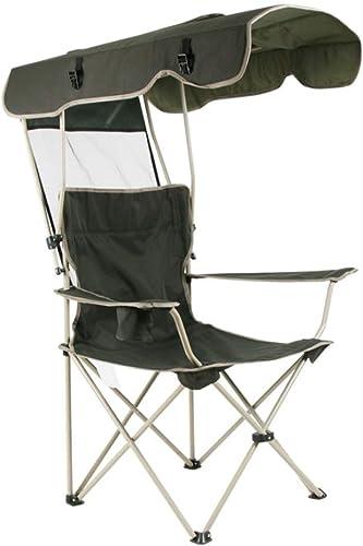 Liansheng avec Parasol Loisirs de Plein air Chaise Pliante Portable pêche Camping Voyage en Plein air Chaise Pliante