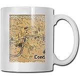 Taza de regalo de caf y t Mapa de la taza de cermica inspirada en...