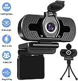 USB Webcam 1080p,Webcam for pc,Desktop,Laptop,Streaming Webcam Built-in Mic,Plug and Play Video...