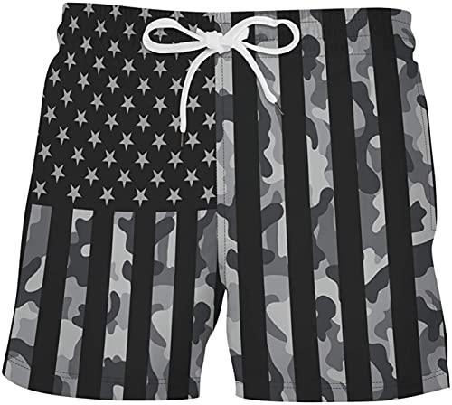 Haayee Pantalones cortos impresos a juego de color de los hombres moda suelta casual cómodo