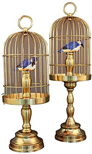 Creatieve gaven noviteit en praktische vogelkooi Decoratie Office legering ornamenten twee sets van high-end geschenken dier ekster vogel kooi grote (22 * 22 * ?? 66cm), kleine kooien (22 * 22 * ?