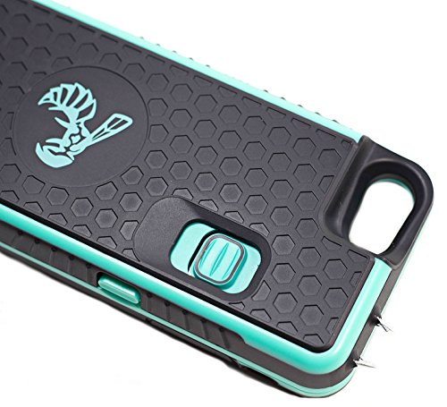 The Only High-Powered Stun Gun that Protects, Recharges Your iPhone 7,7s,8 - Concealed Inside a Durable Weatherproof Case - Flexibility to Attach or Detach - 5.0mAh for Maximum Self Defense - Black