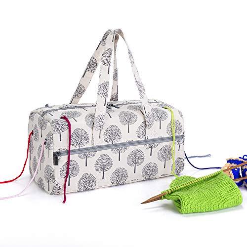 Teamoy Bolsa de Ovillos Organizador para Lanas Bolso de Crochet