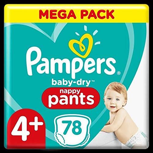 Pampers Baby-Dry Pants Pants - Pañales (talla 4+, 78 unidades)