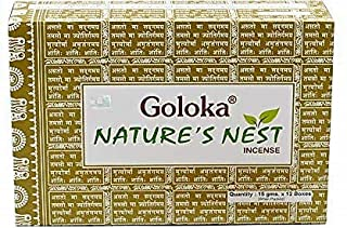 Incienso Goloka Nature´s Nest - 12 Cajas x 15g -