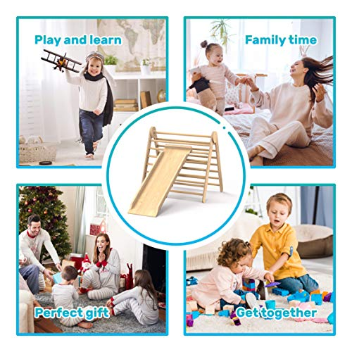Foldable Toddler Slide Playground Activity Climber Kid Play Structure Triangle