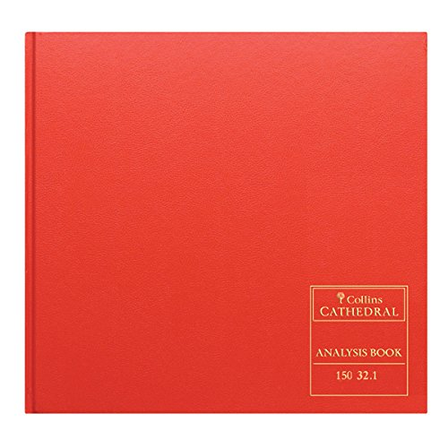Collins 061381 150 Series Cathedral Analysis Book, 32 Cash Columns, 297 x 315 mm, 96 Pages