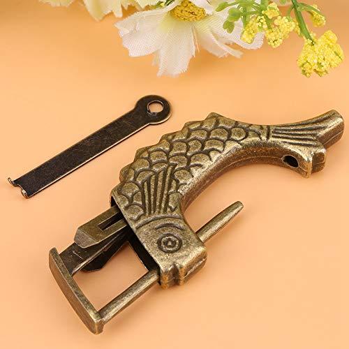 Weikeya Candado de aleación de cinc fuerte y resistente para cajón, color bronce