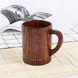 Estilo Copa de madera Creativa Jujube Aislamiento de madera Copa de té Taza de café de madera Taza de bebida Taza de café y conjuntos de amportes (Color : F)