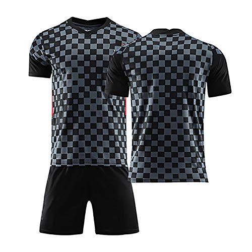 Men's Football Jersey, for Modric 10 Rakitic 7 Perisic 4 Kramaric 9 Mandzukic 17, 2020 Away Summer Football Uniform Set,Can Be Washed Repeatedly Blank-S