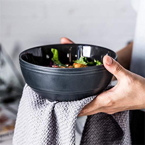 JINKEBIN Cuenco de Tazón de casa ensaladera Personalidad Creativa de cerámica