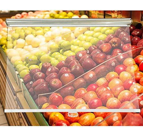 Estores A Prueba de Polvo Claro Cortina Enrollable por Supermercados Congeladores Gabinete de Cortina de Aire, 80/85/90/95/100/105/110/115/120 cm de Ancho, con Mango (Size : 100×150cm/39×59in)