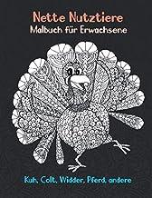 Nette Nutztiere - Malbuch fuer Erwachsene - Kuh, Сolt, Widder, Pferd, andere  🐰 🐎 🐷 🐮 🐴 🐑 🐔