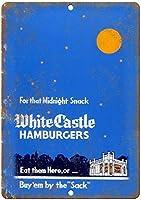 鉄の絵、ザックによる白い城のハンバーガー、鉄のポスターの絵ティンサインカフェバーのヴィンテージの壁の装飾パブホームビールの装飾工芸品レトロなヴィンテージサイン