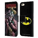 Head Case Designs Licenciado Oficialmente Batman DC Comics La Broma de Matar Fundas de cómics Famosas Carcasa de Cuero Tipo Libro Compatible con Apple iPhone 6 Plus/iPhone 6s Plus