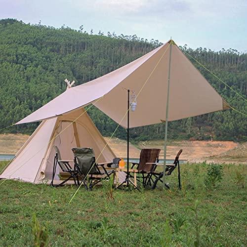 Tienda De Campaña Familiar Con Refugio Solar 3-4 Personas Carpa Familiar Carpa Impermeable Para Acampar Al...