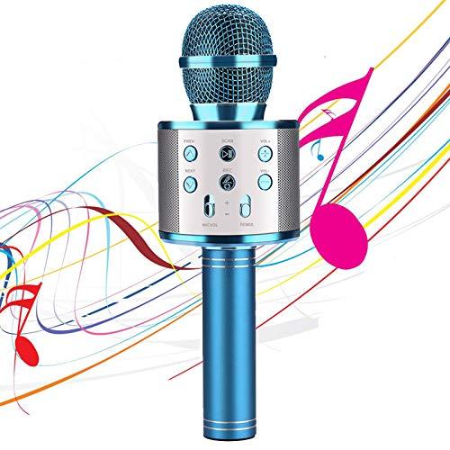 Micrófono Karaoke 4 en 1 con Bluetooth, inalámbrico, portátil, con Altavoz para Android/iOS, PC y Smartphone