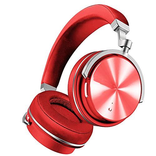 Actieve Ruisonderdrukkende Hoofdtelefoon Bluetooth Hoofdtelefoon Draadloze Hoofdtelefoon met Microfoon en 20 Uur Speeltijd voor Reizen/Werk-rood