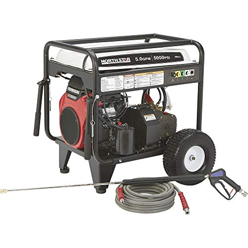 Great Price! Northstar Gas Cold Water Pressure Washer - 5.0 GPM, 5000 PSI, Electric Start, Model# 15...