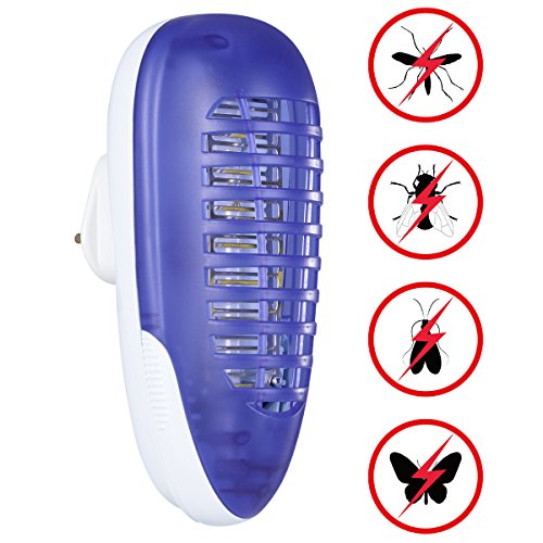YUNLIGHTS Bug Zapper Light, Electric Fly Killer, 4W Plug in Indoor Mosquito Trap for Home, Kitchens, Office, Outdoor Patios, Store, Yards