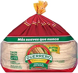 Guerrero White Corn Tortillas Twin Pack 2/55ct (110 Tortillas Total)