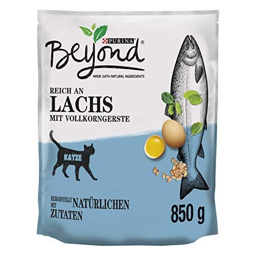 PURINA BEYOND Katzentrockenfutter weizenfrei, mit Lachs und Vollkorngerste, 6er Pack (6 x 850g)