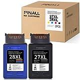 PINALL 27XL 28XL - Cartuchos de tinta compatibles para HP Deskjet 3320 3420 3550 3620 3650 3740 3745 HP Officejet 5610 4315 6110 4215 Pro 3610 HP PSC 1215 1 210 1. 310 1315 1217 (negro/color).