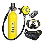 FGKING Sauerstoffflasche Kit, Mini Tauchflasche Tauchausrüstung Set, Pressluftflasche Schnorcheln...
