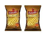 Estrella Patata Chips (Miel, Mostaza, Pimienta Negra), 130 g - Pack de 2