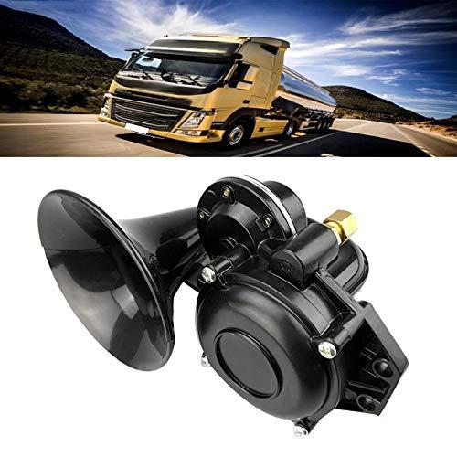 Adanse LKW 135Db Drucklufthupe 12/24 V Super Laute Trompete Drucklufthupe mit Flachem Elektroventil für PKW-LKWs