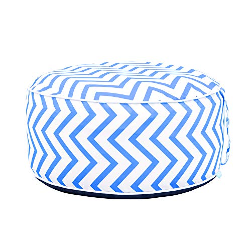 QILLOWAY Indoor/Outdoor Inflatable Round Ottoman