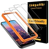 UniqueMe [3 Pack] Cristal Templado para Huawei P20 Pro, Protector de Pantalla [9H Dureza ] [Sin Burbujas] HD Film Vidrio Templado para Huawei P20 Pro