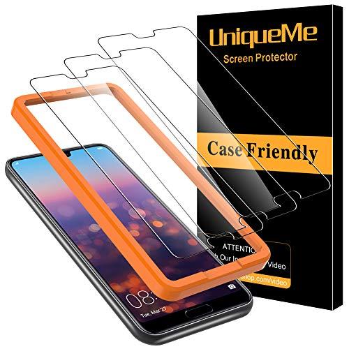 UniqueMe [3 Pezzi] Pellicola Protettiva Compatibile con Huawei P20 PRO Vetro Temperato 9H HD Ultra Resistente [Bubble-Free]