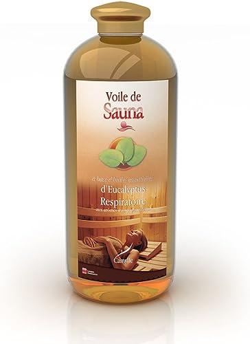 Camylle - Voile de Sauna Eucalyptus - Fragrances à base d'Huiles Essentielles 100% Pures et Naturelles pour Sauna - R...