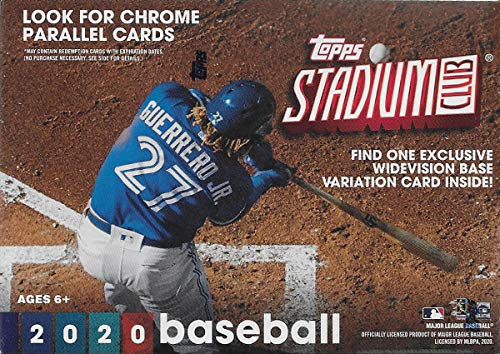2020 Topps STADIUM CLUB Baseball Series Blaster Box of Packs with EXCLUSIVE WideVision Card