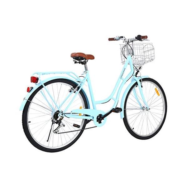 Comfort Bikes MuGuang 28 Inches 7 Speeds City Bike Women's Man's Bike Ladies City Bike Outdoor Sports City Urban Bicycle Shopper Bike…