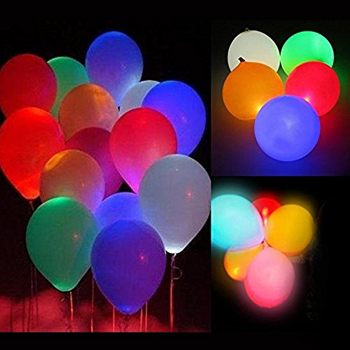 Pulchram Luz LED Colorida Globos Luminosos Luz Nocturna Globos Intermitentes Luz para Fiesta, cumpleaños, Boda, Festival, Club, Bar, Concierto (15 PCS)