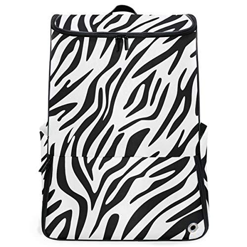 Rugzak Rugzak Reizen Dagtas Zebra Skin Print Abstract Boek Tas Casual Reizen Waterdicht