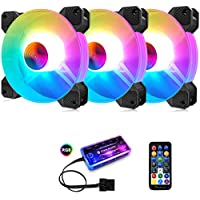 3-Pack Pecham RGB Case Fans with Remote Control