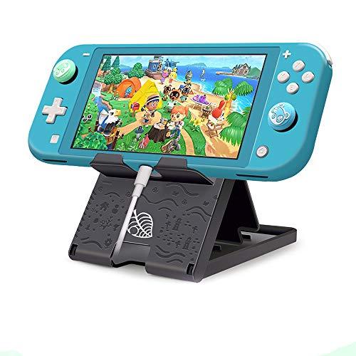 FXICAI Playstand para Nintendo Switch/Switch Lite, Animal Crossing Angular Ajustable Swicth Stand Portátil Plegable Compacto Soporte Antideslizante