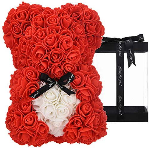 Rose Teddy Bear - women gifts for mom anniversary girlfriend birthday gifts for Her , Rose Bear Rose...